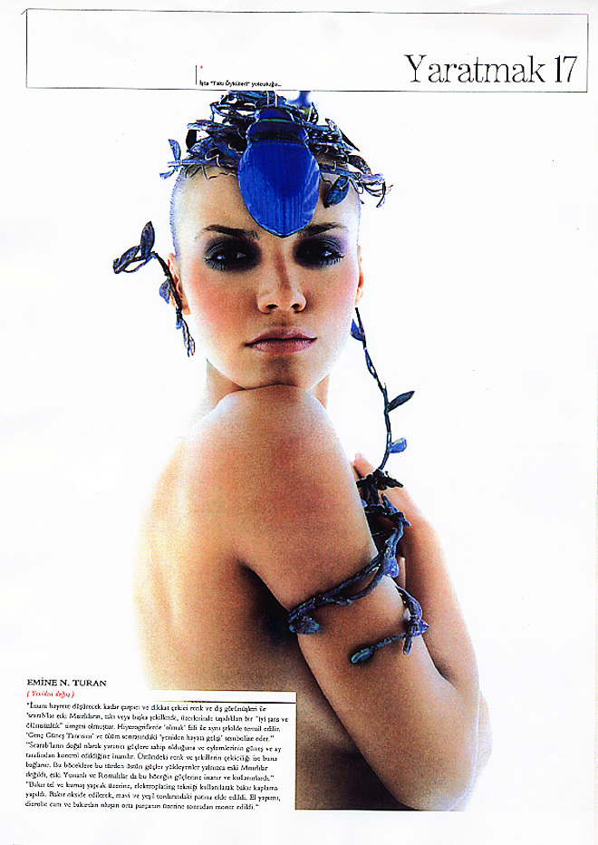 "Coverage on 4 designer's work ; ""Extreme Designs"" Out of the ordinary, unique pieces of Jewelry on Beymen Magazine"
