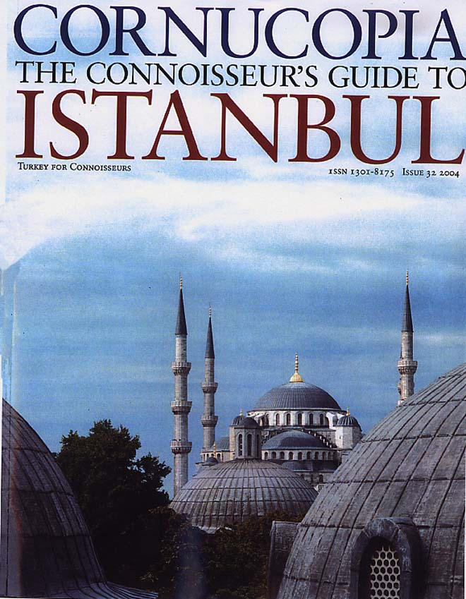 Picture of Cornucopia, The Connoisseur's Guide to Istanbul magazine Cover feauturing aCCenturC design gallery