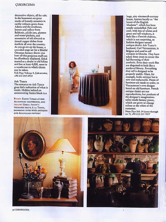 Cornucopia Istanbul magazine coverage on aCCenturC Design Gallery