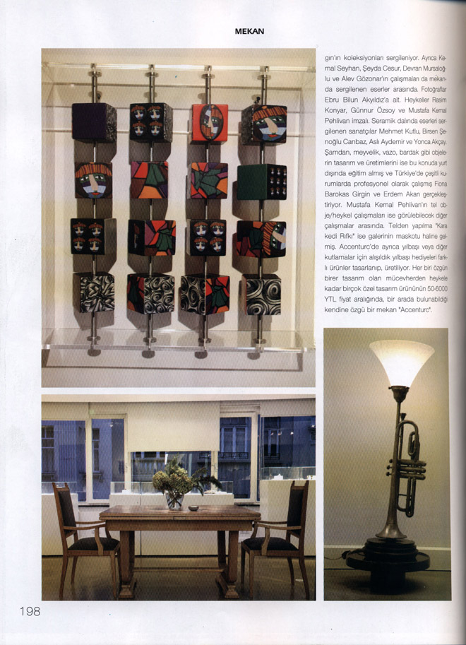 "Coverage on aCCenturC Design Gallery at ""Marie Claire Maison ""Magazine"